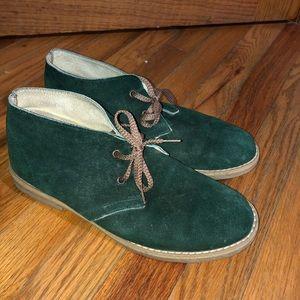 🆕 Green Suede Booties Sz 10